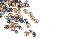 Шатоны без оправы SS12 Black Diamond, ≈50 шт.