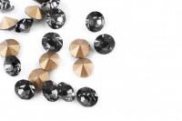 Шатоны без оправы SS16 Black Diamond, ≈20 шт.