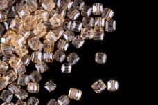 Бусины стеклянные Кубики BSK 024 (≈100 шт)
