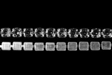 Стразовая лента 2 мм Black diamond (50 см)