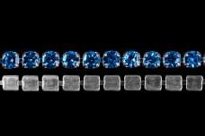 Стразовая лента 2 мм Blue zircon (50 см)